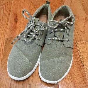 TOMS army green sneakers